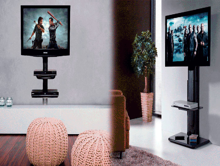 Ideas para montar tu pantalla de tv led y dvd for Televisores en la pared