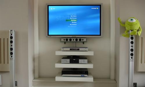 Soporte de 3 repisas para DVD decodificador Blu-ray Xbox en Bogotá