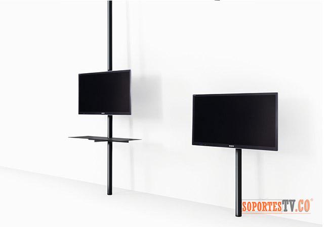 soporte tv  piso a techo